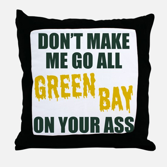 Green Bay Football Throw Pillow