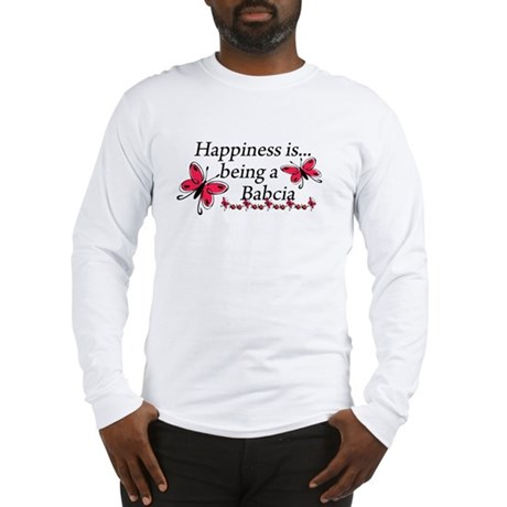 Butterfly Being A Babcia Long Sleeve T-Shirt