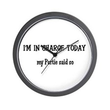 I'm in Charge Portie Wall Clock