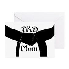Martial Arts TKD Mom Greeting Card