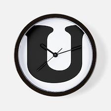 Large Letter U Wall Clock