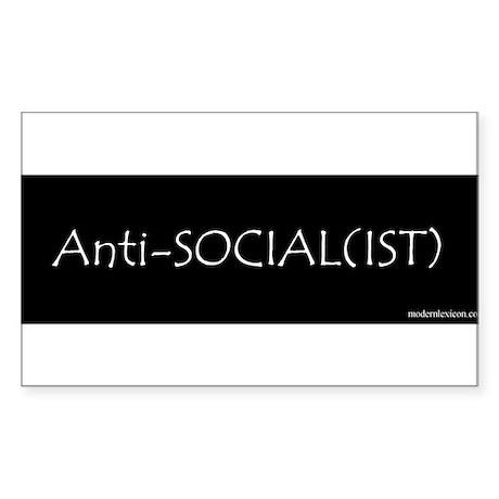 Anti-Social(ist) Rectangle Sticker