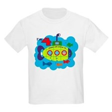 Submarine 4th Birthday T-Shirt