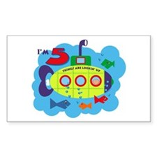 Submarine 5th Birthday Rectangle Decal
