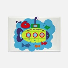 Submarine 6th Birthday Rectangle Magnet