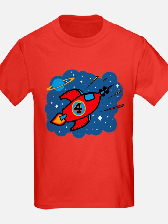 Rocket Ship 4th Birthday T