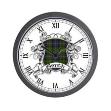 Smith Tartan Shield Wall Clock