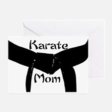 Martial Arts Karate Mom Greeting Card