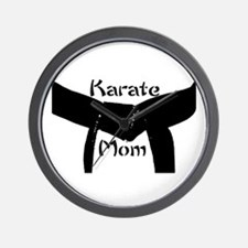 Martial Arts Karate Mom Wall Clock