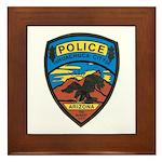 Huachuca City Police Framed Tile