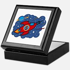 Rocket Ship 5th Birthday Keepsake Box