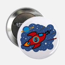 "Rocket Ship 5th Birthday 2.25"" Button"