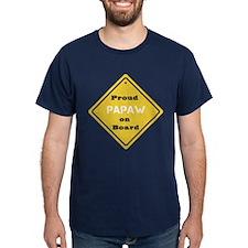 Proud Papaw on Board T-Shirt