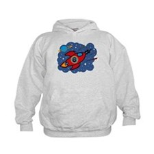 Rocket Ship 6th Birthday Hoodie