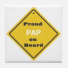 Proud Pap on Board Tile Coaster