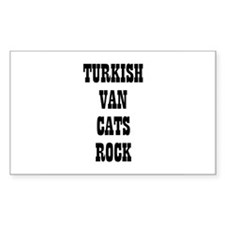 TURKISH VAN CATS ROCK Rectangle Decal