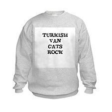 TURKISH VAN  CATS ROCK Sweatshirt