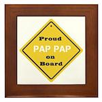 Proud PapPap on Board Framed Tile