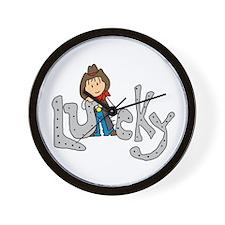 Lucky Cowboy Wall Clock