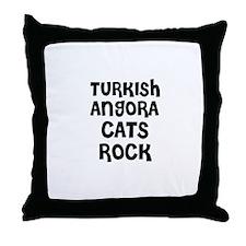 TURKISH ANGORA CATS ROCK Throw Pillow