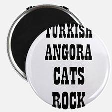 "TURKISH ANGORA CATS ROCK 2.25"" Magnet (10 pack)"