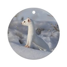 Winters Coat Ornament (Round)