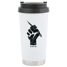 Write On T-Shirt Travel Mug