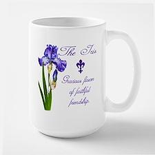 Purple Iris Large Mug