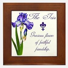 Purple Iris Framed Tile