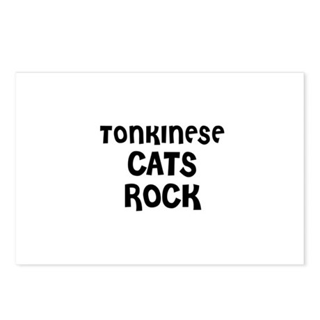 TONKINESE CATS ROCK Postcards (Package of 8)