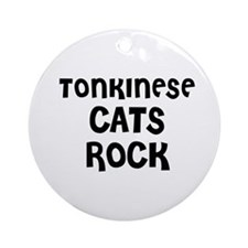 TONKINESE CATS ROCK Ornament (Round)
