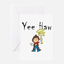 Yee Haw Cowboy Greeting Card