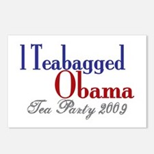 Teabag Obama (Tea Party) Postcards (Package of 8)