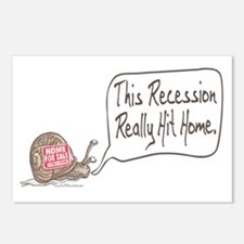 Recession Hits Home Snail Postcards (Package of 8)