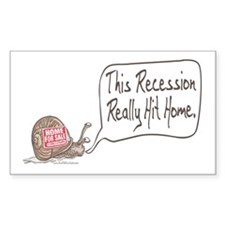 Recession Hits Home Snail Rectangle Decal