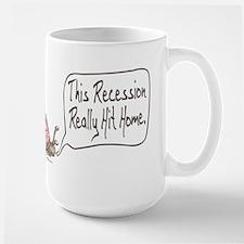 Recession Hits Home Snail Mug
