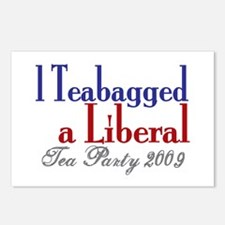Teabag a Liberal (Tea Party) Postcards (Package of