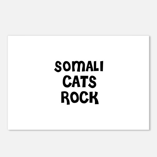 SOMALI CATS ROCK Postcards (Package of 8)