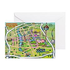 San antonio texas cartoon map Greeting Card