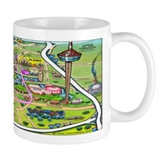 San antonio texas cartoon map Mug
