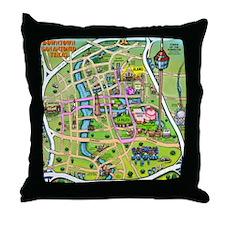 San antonio texas cartoon map Throw Pillow