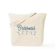 Blue M Martini Bridesmaid Tote Bag