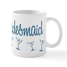 Blue M Martini Bridesmaid Mug