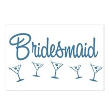 Blue M Martini Bridesmaid Postcards (Package of 8)