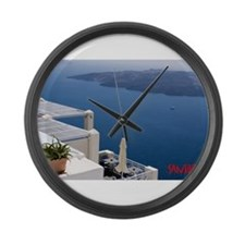 Cute Greece Large Wall Clock