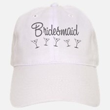 Grey M Martini Bridesmaid Baseball Baseball Cap