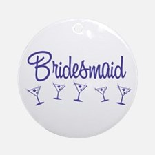 Indigo M Martini Bridesmaid Ornament (Round)
