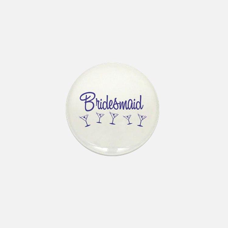 Indigo M Martini Bridesmaid Mini Button