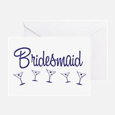 Indigo M Martini Bridesmaid Greeting Card