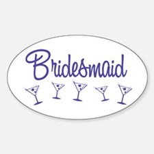 Indigo M Martini Bridesmaid Oval Decal